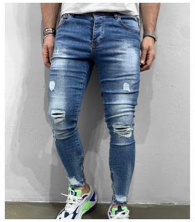Παντελόνι jean ανδρικό slash zip BL5970