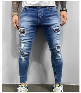 Παντελόνι jean ανδρικό slash zip & trooks BL6266