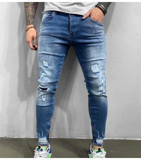 Παντελόνι jean ανδρικό slash zip BL6274