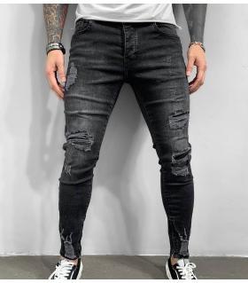 Παντελόνι jean ανδρικό slash zip BL6292