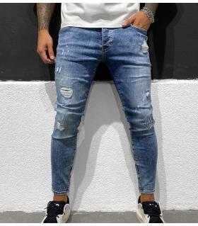 Παντελόνι jean ανδρικό slash zip BL6360