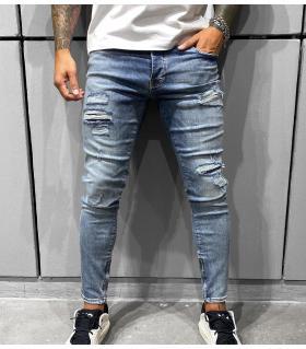 Παντελόνι jean ανδρικό slash zip BL6361