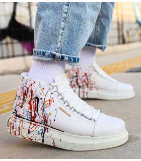 Μποτάκια Sneakers ανδρικά paint C262