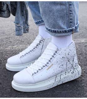 Μποτάκια Sneakers ανδρικά paint C263