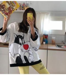 Μπλουζοφόρεμα φούτερ oversized CH005