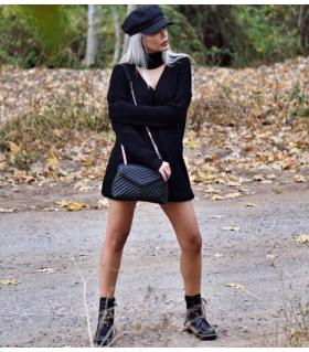 Φόρεμα πλεκτό γυναικείο ζιβάγκο CH0123