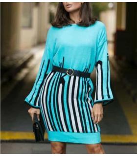 Φόρεμα πλεκτό γυναικείο oversized CH0127