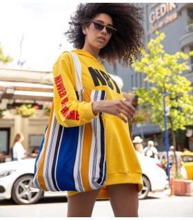 Φόρεμα φούτερ oversized με κουκούλα -NBTS- CH013