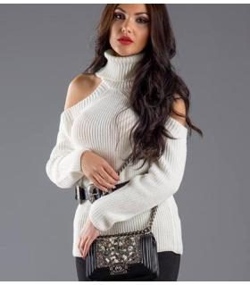 Μπλούζα πλεκτή ζιβάγκο γυναικεία CH0491