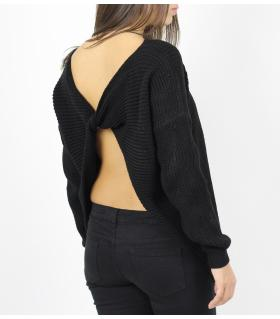 Μπλούζα γυναικεία πλεκτή με άνοιγμα στην πλάτη CH058