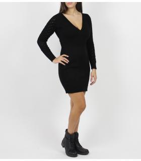 Φόρεμα πλεκτό ντεκολτέ CH063