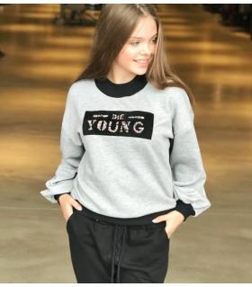 Μπλούζα φούτερ γυναικεία Die Young CH0804