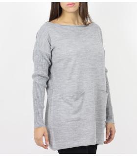 Μπλουζοφόρεμα πλεκτό με τσέπες CH090