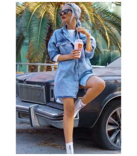 Φόρεμα jean γυναικείο oversized CH3635
