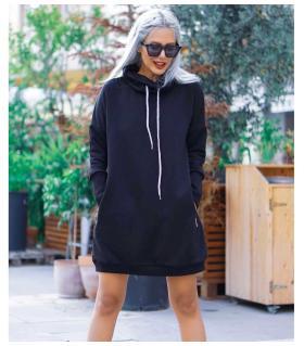 Φόρεμα φούτερ oversized ζιβάγκο CH3636