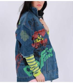 Oversize jean jacket γυναικείο CH863