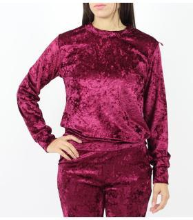 Μπλούζα φούτερ γυναικεία suede D3002