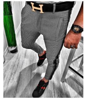 Παντελόνι ανδρικό καρό stripe E18018