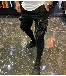 Παντελόνι φόρμα zips & pockets E4301