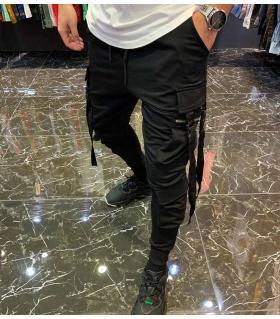 Παντελόνι φόρμα pockets με ιμάντες E4316