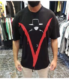T-shirt ανδρικό -V- E4544