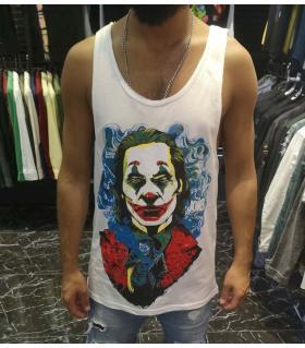 Αμάνικο ανδρικό Tshirt -Joker- E4554