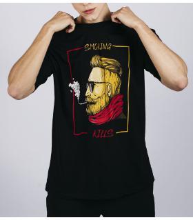 Oversized T-shirt ανδρικό -Smoking- E5281