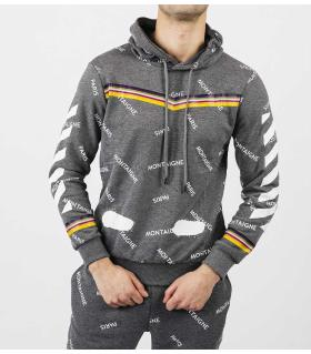 Μπλούζα φούτερ με κουκούλα E5419