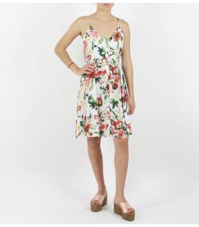 Φόρεμα κοντό viscose με λουλούδια FN17447