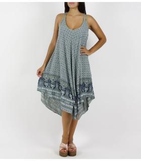 Φόρεμα μακρύ ασύμμετρο FN6789