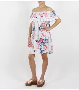 Φόρεμα κοντό με δαντέλα FN83308-1