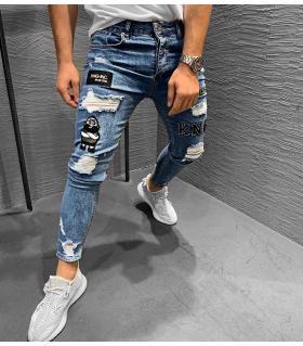 Παντελόνι jean ανδρικό stickers K018