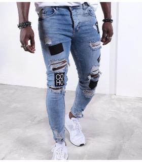 Παντελόνι jean ανδρικό stickers K019