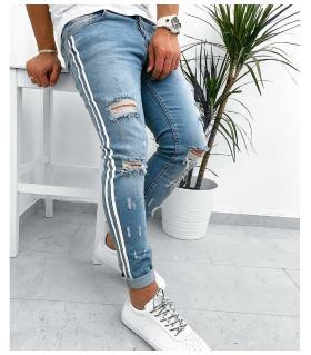 Παντελόνι jean ανδρικό two stripes K032
