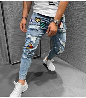 Παντελόνι jean ανδρικό stickers K046