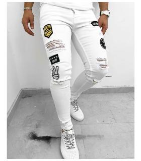 Παντελόνι jean ανδρικό stickers K061