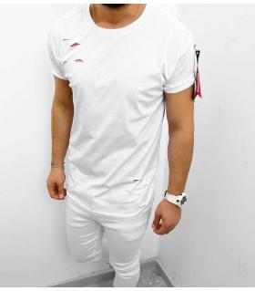 T-shirt ανδρικό zip & holes K1042
