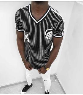 T-shirt ανδρικό stripes K1069