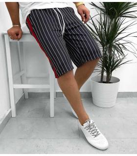 Βερμούδα ανδρική αθλητική red stripe K1086