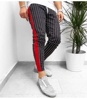 Παντελόνι φόρμα red stripe K1087