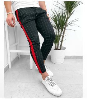 Παντελόνι ανδρικό red stripe K1088