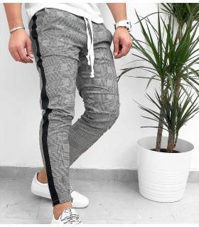 Παντελόνι ανδρικό καρό stripe K1089