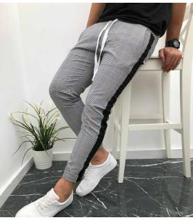 Παντελόνι ανδρικό καρό stripe K1091