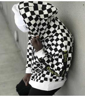 Μπλούζα φούτερ ανδρική chess print K1120