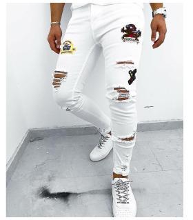 Παντελόνι jean ανδρικό stickers K116