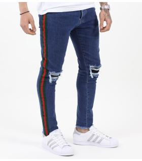 Παντελόνι jean slash & 3 stripes K118