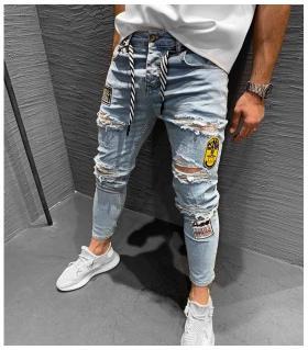 Παντελόνι jean ανδρικό stickers K119