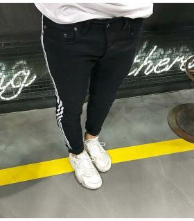 Παντελόνι jean ανδρικό stripes K125