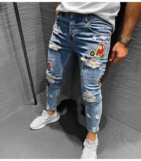 Παντελόνι jean ανδρικό stickers K133