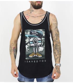 Αμάνικο ανδρικό Tshirt i_saved_you K17-2002